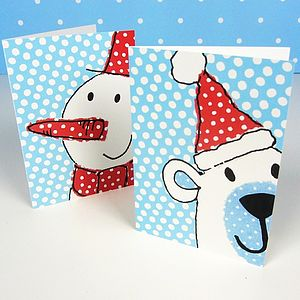Festive Faces Christmas Cards - view all sale items