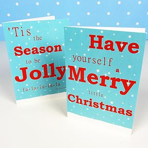 Festive Jolly Christmas Cards - cards