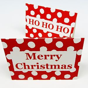 Festive Words Christmas Cards - view all sale items