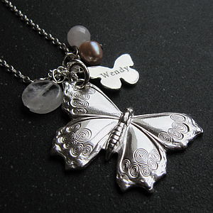 Silver Butterfly Necklace - necklaces & pendants