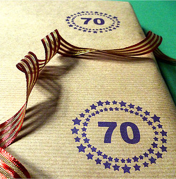 Handmade Personalised Number Wrapping Paper
