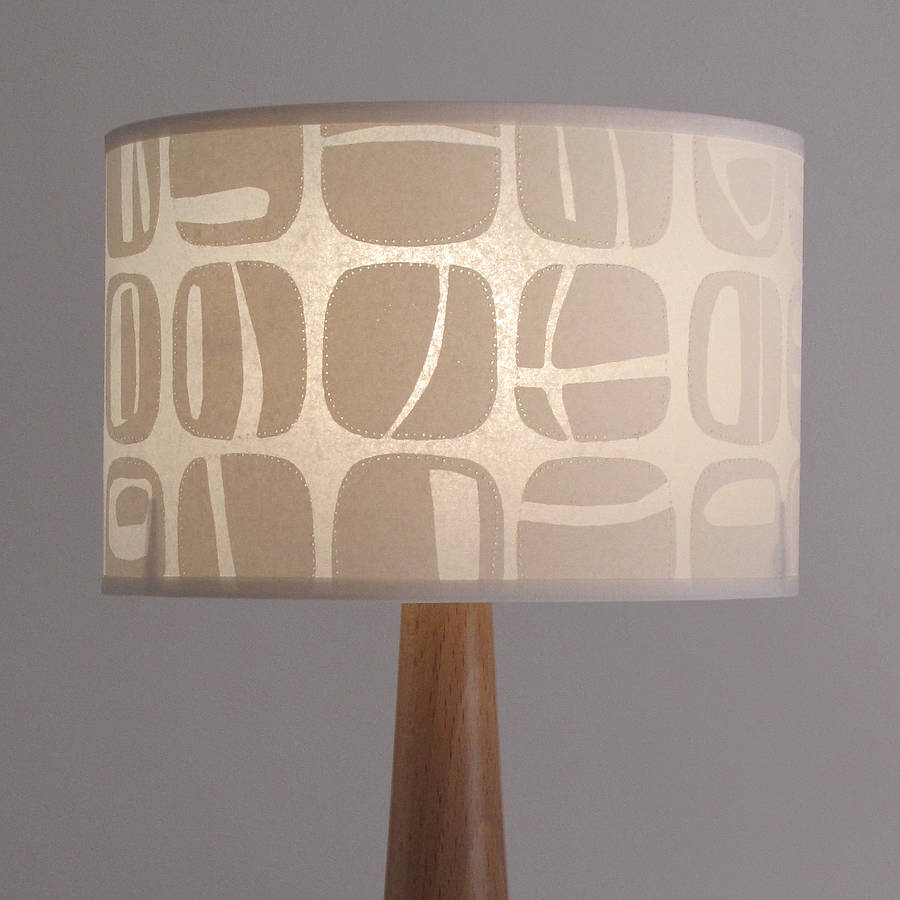 retro pebble lampshade by helen rawlinson. Black Bedroom Furniture Sets. Home Design Ideas