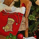 Christmas Sack With Teddy Bear Crochet