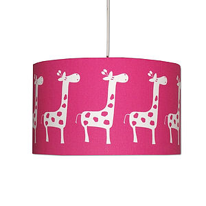 Handmade Retro Giraffe Lampshade - children's lighting