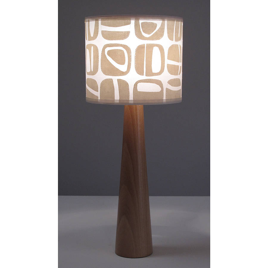 Pebble Print Table Lamp By Helen Rawlinson
