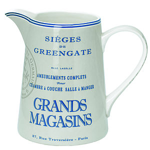 Handfinished Grande Magasins Grey Jug