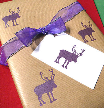 Handmade Christmas Animals Wrapping Paper