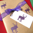 Handmade Animal Gift Wrap In Four Designs