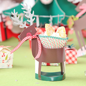 Christmas Reindeer Cupcake Holder