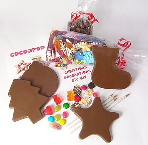 Chocolate Christmas Decorations DIY Kit - christmas parties & entertaining