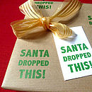 Santa Dropped This! Christmas Wrapping Paper