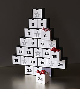Advent Calendar Tree - toy boxes