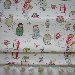 Owl Roman Blind - living & decorating