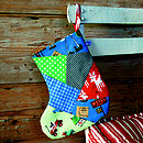 Patchwork Boys Christmas Stocking