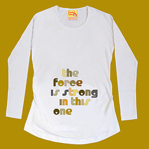 Force Is Strong Maternity T Shirt For Mother To Be - women's fashion