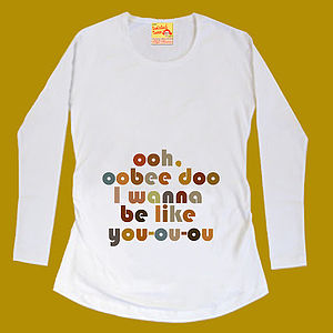 Maternity 'Oobee Doo' T Shirt For Mum To Be - women's fashion