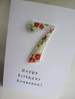 Personalised Number Magnet Card