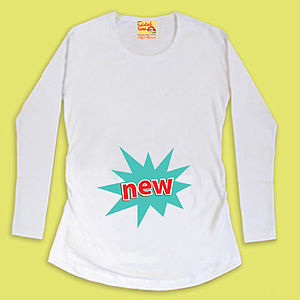 Maternity 'New' T Shirt For Pregnant Mum To Be