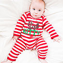 Personalised Reindeer Stripe Romper