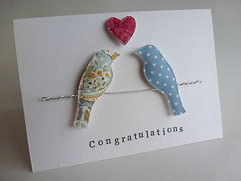 Personalised Bird On A Wire Magnet Card