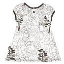 Woodland Animals Organic Dress