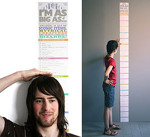 Incredible Height Chart - children's room accessories