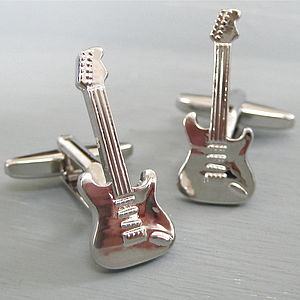 Guitar Cufflinks - men's jewellery