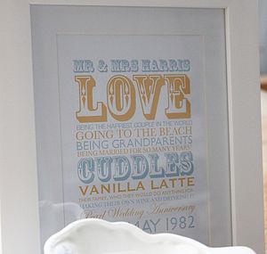 Bespoke Personalised Memories Print