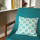 Patterned Linen Cushion Cover