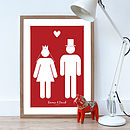 Personalised 'The Wedding Couple' Poster