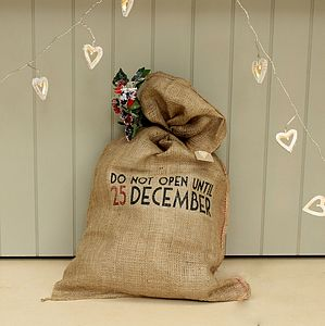 'Do Not Open Until 25th December' Santa Sac - christmas sale