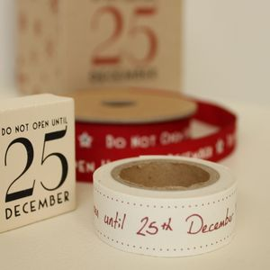 'Do Not Open Until…' Tape And Stamp - ribbon & wrap
