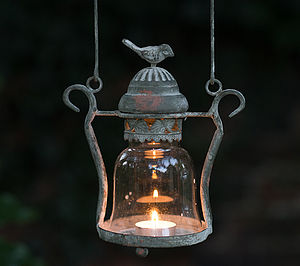 Vintage Style Love Bird Candle Lantern - lights & lanterns