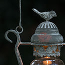 Vintage Style Love Bird Candle Lantern