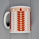 Corn Pattern Mug In Truffle & Chestnut