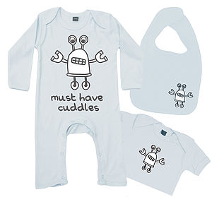 Cuddle Robot Baby Boy Gift Set - bodysuits & all-in-ones