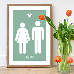 Personalised 'The Couple' Poster