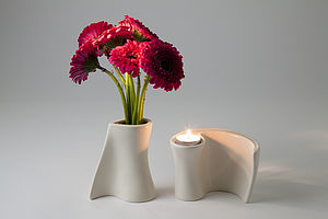 Flower & Flame, Tea Light Holders Cum Vases