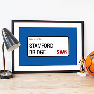 Personalised Football Team Poster - gifts for fathers