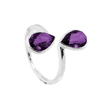 Laila Sterling Silver And Amethyst Ring