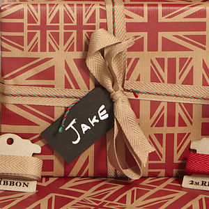 Blackboard Gift Tag - ribbon & wrap