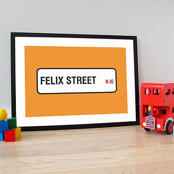 Personalised 'Street Name' Poster