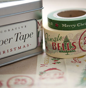 Set Of Five Christmas Paper Tapes