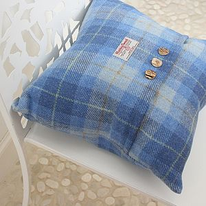 Hebridean Dunes Harris Tweed Cushion - living room