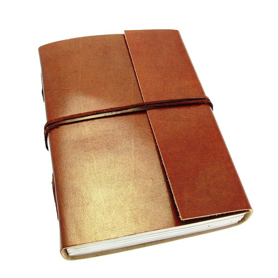 handmade plain leather journals by paper high