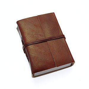 Fair Trade Plain Leather Journals - travel journals & diaries