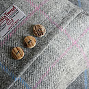 Dove Dawn Harris Tweed Cushion