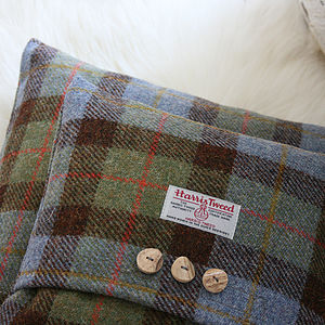 Macleod Harris Tweed Cushion - bedroom