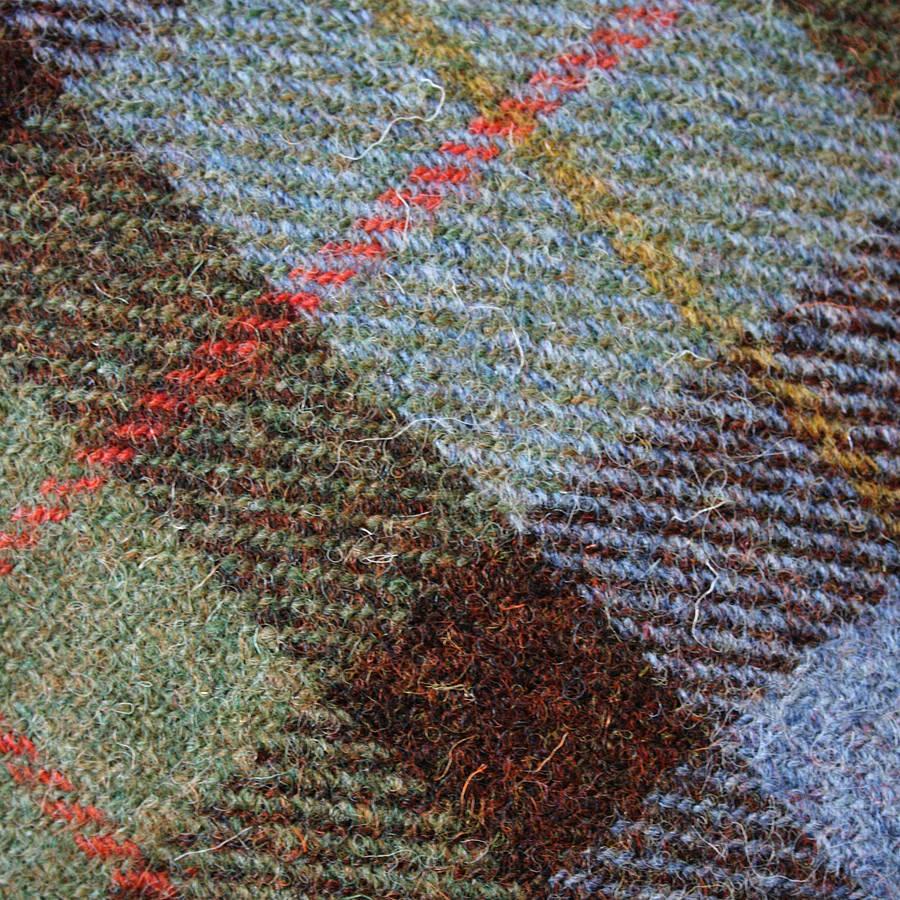 Macleod Harris Tweed Cushion By The Tweed Workshop At
