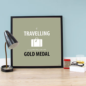 Personalised 'Gold Medalist' Poster/Print